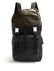 Marni Colour Block Nylon Backpack Black Multi