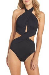 Lablanca Women's La Blanca Island Goddess Halter One Piece Swimsuit Black