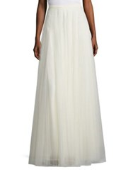 Jenny Yoo Winslow Tulle Long Skirt Navy Cream