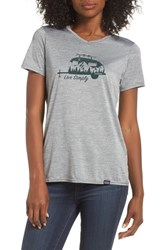 Patagonia Capilene Daily Graphic Tee Feather Grey