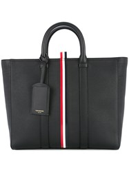 Thom Browne Short Tote With Red Black
