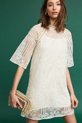 Anthropologie Lilla Lace Tunic Ivory