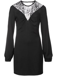 Roberto Cavalli Floral Lace Detail Dress Black