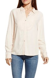 Women's Two By Vince Camuto Bib Detail Utility Shirt Moonbeam