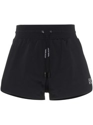Off White Drawstring Track Shorts Black