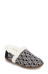 Toms Women's Multi Stripe Slipper Black Black