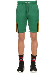 Cease And Desist Logo Bands Techno Tricot Track Shorts Green