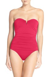 Tommy Bahama Women's 'Pearl' Convertible One Piece Swimsuit Calypso Pink
