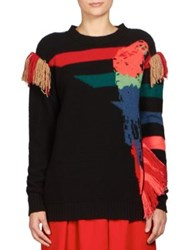 Sonia Rykiel Parrot Jacquard Cashmere Sweater