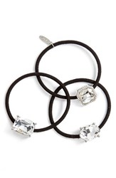 Natasha Couture 3 Pack Crystal Ponytail Holders
