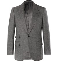 Kingsman Grey Slim Fit Prince Of Wales Checked Wool Suit Jacket Gray