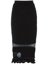 Helen Lawrence Ribbed Ruched Hole Detail Skirt