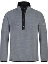 Oscar Jacobson Norris Half Zip Jumper Light Grey