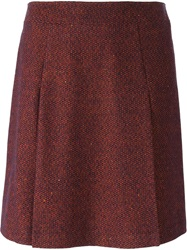 A.P.C. A Line Short Skirt Red