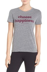 Women's Spiritual Gangster 'Choose Happiness' Heathered Jersey Tee