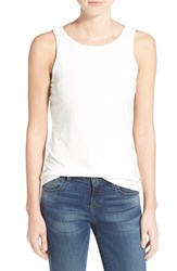 Women's Halogen Double Layer Tank Ivory Cloud