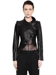Ann Demeulemeester Asymmetrical Leather Jacket