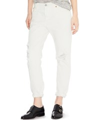 Levi's 501 Ct Customized Tapered Boyfriend Jeans White Tumble