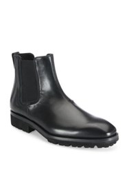 Salvatore Ferragamo Leather Chelsea Boots Black