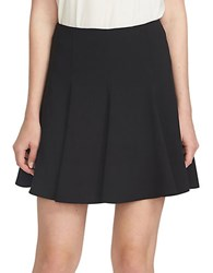Cece Flounce Crepe Pleated Fit And Flare Skirt Black