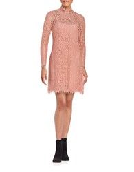 Erin Fetherston Lace Overlay Shift Dress Salmon