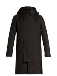 Norwegian Rain Double Breasted Technical Military Coat Black