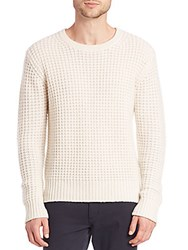 Vince Chunky Waffle Sweater Winter White