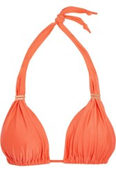 Vix Swimwear Peach Bia Triangle Bikini Top Bright Orange