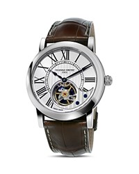Frederique Constant Heart Beat Watch 41Mm Silver Brown