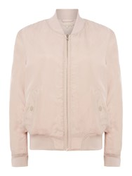Little White Lies Long Sleeves Bomber Jacket With Zip Closure Pink