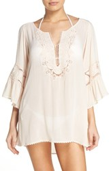 L Space Women's 'Breakaway' Cover Up Tunic Shell Coral
