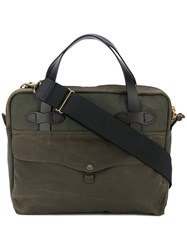 Filson Tablet Briefcase Unisex Cotton Leather One Size Green