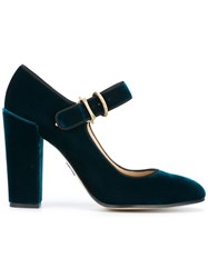 Paul Andrew Mary Jane Pumps Blue