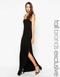 Taller Than Your Average Ttya Cage Back Strappy Maxi Dress Black