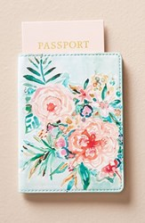 Anthropologie Wild At Heart Passport Case Blue Sky