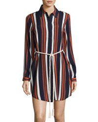 Tularosa James Striped Rope Tie Shirtdress Multi