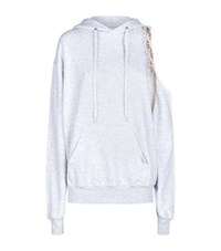 Forte Couture Cold Shoulder Hoodie Grey