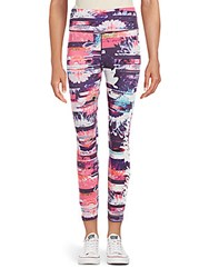 Betsey Johnson Performance Floral Printed Leggings Multicolor