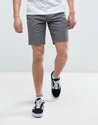 Brixton Chino Shorts With Raw Hem Grey