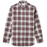 Portuguese Flannel Bavaric Check Overshirt Red