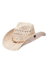 Peter Grimm Ford Straw Drifter Hat Brown Natural