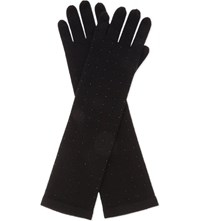 William Sharp Swarovski Elbow Cashmere Gloves 280