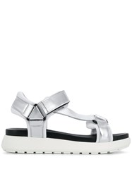 P.A.R.O.S.H. Touch Strap Sandals Silver