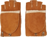 Mackage Tan Shearling Orea Convertible Gloves