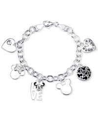 Disney Mickey Mouse Charm Toggle Bracelet In Sterling Silver