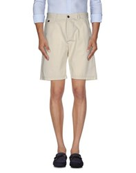 Franklin And Marshall Trousers Bermuda Shorts Men Beige