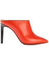 Lanvin Pointed Toe Mules Yellow And Orange