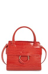 Sam Edelman Mini Chiara Faux Leather Satchel Red Passion Red