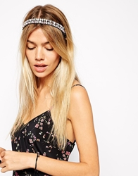 Asos Mega Jewel Headband Pink