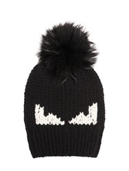 Fendi Monster Eyes Wool Hat W Murmanky Fur